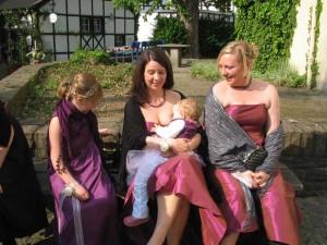 auf einer Hochzeitsfeier