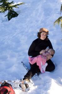 beim Schneewandern