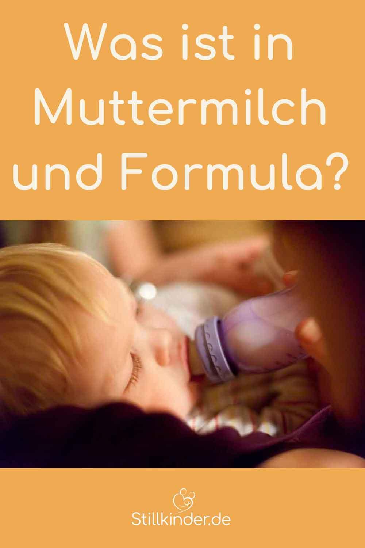 Ein Kleinkind bekommt eine Flasche mit Milch