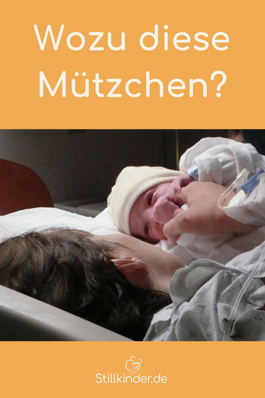 Ein Neugeborenes mit Mütze