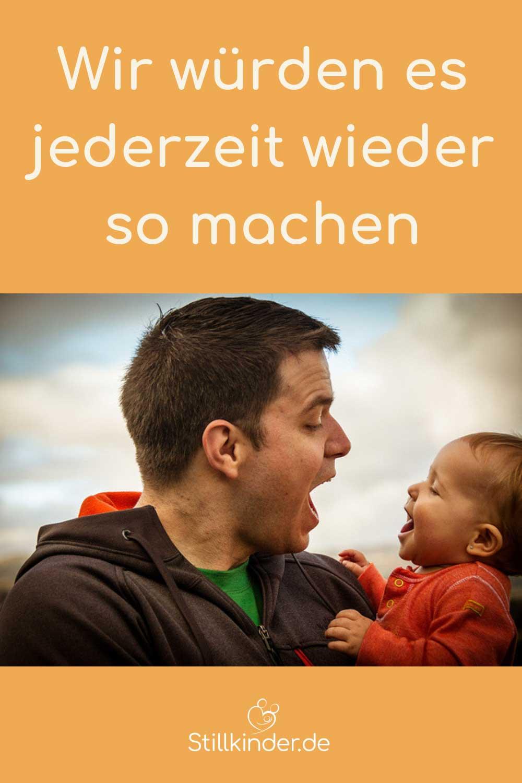Ein Vater mit seinem Baby
