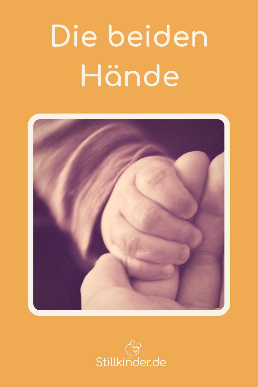 Ein große und eine kleine Hand
