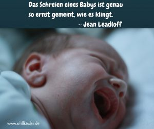 Das Schreien eines Babys ist genau so ernst gemeint, wie es klingt