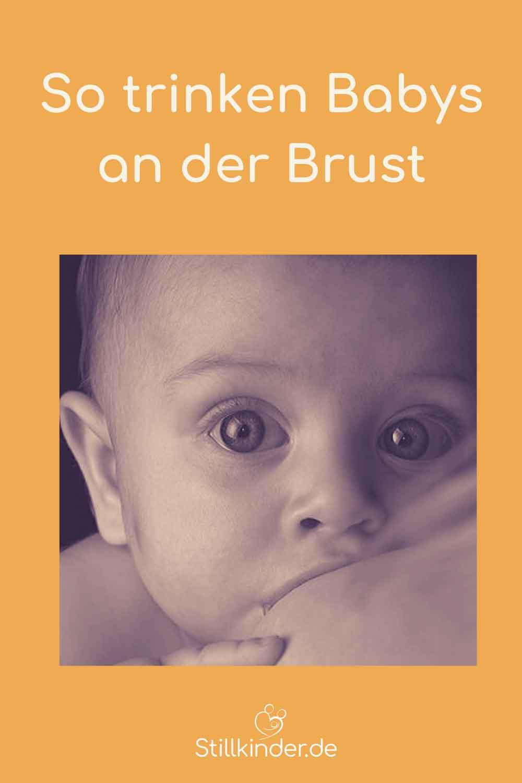 Ein Baby trinkt an der Brust