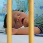 Allein schlafendes Baby